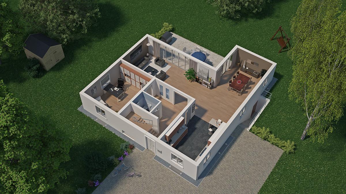 virtual haus. Black Bedroom Furniture Sets. Home Design Ideas